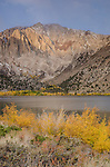 Early morning light on Laurel Mountain above Convict Lake, fall, Inyo National Forest, California