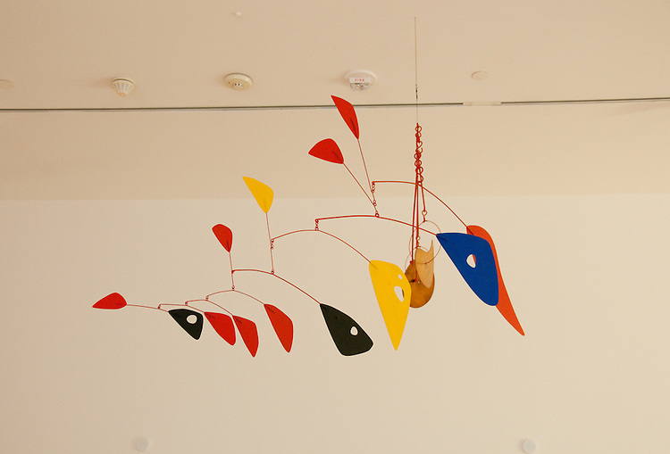 San Francisco Museum of Modern Art, SFMOMA, Alexander Calder sculpture titled Double Gong.  Photo copyright Lee Foster.  Photo # casanf103968
