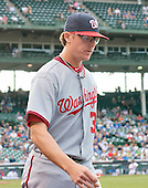 Washington Nationals pitcher Tyler Clippard (36) walks to the bullpen during the game against the Chicago Cubs at Wrigley Field in Chicago, Illinois on Thursday, August 22, 2013.<br /> Credit: Ron Sachs / CNP