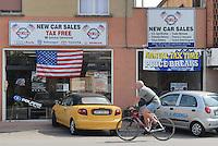 - stores for US soldiers in front of camp Ederle US Army  base entry....- negozi per i militari USA davanti all'ingresso della base US Army di caserma Ederle