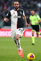 Calcio, Serie A: Juventus - Cagliari, Turin, Allianz Stadium, January 6, 2020.<br /> Juventus' Gonzalo Higuain in action during the Italian Serie A football match between Juventus and Cagliari at Torino's Allianz stadium, on January 6, 2020.<br /> UPDATE IMAGES PRESS/Isabella Bonotto