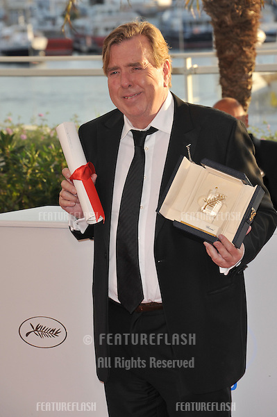 Timothy Spall, winner of Best Actor Award for Mr. Turner, at the awards photocall at the 67th Festival de Cannes.<br /> May 24, 2014  Cannes, France<br /> Picture: Paul Smith / Featureflash