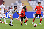 Kim Moonhwan of South Korea (2nd R) fights for the ball with Zheng Zhi of China (L) during the AFC Asian Cup UAE 2019 Group C match between South Korea (KOR) and China (CHN)  at Al Nahyan Stadium on 16 January 2019 in Abu Dhabi, United Arab Emirates. Photo by Marcio Rodrigo Machado / Power Sport Images