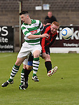Newfoundwell Ciaran Carroll Bellurgan Utd Damien Connor. Photo:Colin Bell/pressphotos.ie