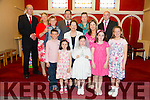 Jane Lynch, from Caherleaheen NS had her First communion at the Immaculate Conception Church Rathass on Saturday. Pictured with family Front l-r Jack O'Sullivan,Ruth Lynch,Jane Lynch (communion Girl),Anna Lynch and Rachel O'Sullivan.Middle row from left Tommy O'Sullivan,Grandmother Power and Caroline Lynch.Back l-r Johnny O'Sullivan,Justine O'Sullivan,Uncle John Power ,Anna Marie Power and Colm Lynch