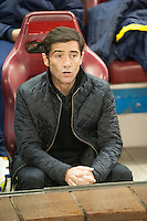 Villarreal´s Marcelino Garcia during 2014-15 La Liga match between Atletico de Madrid and Villarreal at Vicente Calderon stadium in Madrid, Spain. December 14, 2014. (ALTERPHOTOS/Luis Fernandez) /NortePhoto