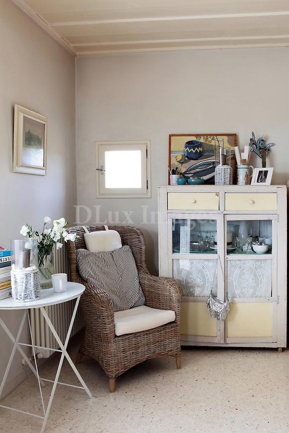 comfortable rattan armchair