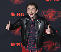 """WESTWOOD - OCTOBER 26:  Noah Schnapp at the premiere of Netflix's """"Stranger Things"""" Season 2 at the Regency Village Theatre on October 26, 2017 in Westwood, California. (Photo by Scott Kirkland/PictureGroup)"""