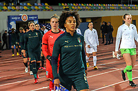 20200307  Parchal , Portugal : Italian defender Sara Gama (3)  pictured before the female football game between the national teams of New Zealand called the Football Ferns and Italy , called the Azzurre on the second matchday of the Algarve Cup 2020 , a prestigious friendly womensoccer tournament in Portugal , on saturday 7 th March 2020 in Parchal , Portugal . PHOTO SPORTPIX.BE | STIJN AUDOOREN