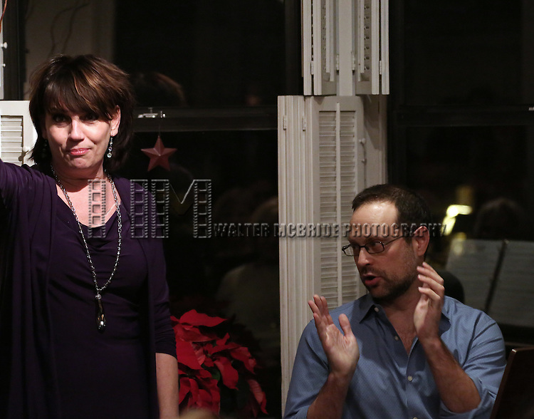 Beth Leavel and Matthew Sklar attend the Dramatists Guild Fund Salon with Matthew Sklar and Chad Beguelin at the home of Gretchen Cryer on December 8, 2016 in New York City.