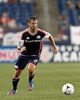 New England Revolution defender Flo Lechner (2) looks to pass. In a Major League Soccer (MLS) match, the New England Revolution defeated Columbus Crew, 2-0, at Gillette Stadium on September 5, 2012.