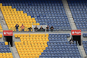 1st October 2017, Camp Nou, Barcelona, Spain; La Liga football, Barcelona versus Las Palmas; Alone supporters in the grandstands