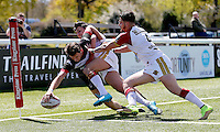 Broncos No 1 touches down for a try during the U19's game between London Broncos and Catalans at Ealing Trailfinders, Ealing, on Sun May 1, 2016