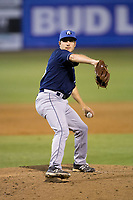 Asheville Tourists relief pitcher Ty Culbreth (38) in action against the Kannapolis Intimidators at Kannapolis Intimidators Stadium on May 5, 2017 in Kannapolis, North Carolina.  The Tourists defeated the Intimidators 5-1.  (Brian Westerholt/Four Seam Images)