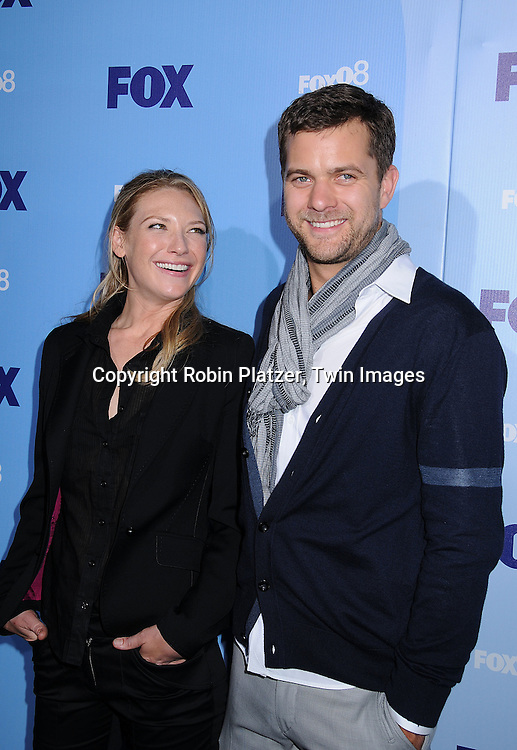 "Anna Torv and Joshua Jackson of ""Fringe""..posing for photographers at the FOX Upfront 2008 programming presentation on May 15, 2008 at Wollman Rink in Central Park in  New York City.....Robin Platzer, Twin Images"