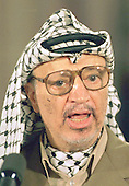 Palestinian Liberation Organization Chairman Yasser Arafat speaks on the Israeli / PLO Interim Agreement during the signing ceremony in The East Room at The White House in Washington, D.C. on September 28, 1995..Credit: Ron Sachs / CNP