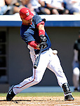 18 March 2007: Washington Nationals catcher Jesus Flores in action against the Florida Marlins at Space Coast Stadium in Viera, Florida...Mandatory Photo Credit: Ed Wolfstein Photo