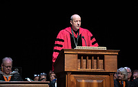 President Jonathan Veitch<br /> The class of 2023 are welcomed to Occidental College by trustees, faculty and staff in Thorne Hall on Aug. 27, 2019 during Oxy's 132th Convocation ceremony, a tradition that formally marks the start of the academic year and welcomes the new class.<br /> (Photo by Marc Campos, Occidental College Photographer)
