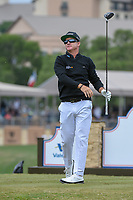Brian Gay (USA) watches his tee shot on 11 during Round 2 of the Valero Texas Open, AT&amp;T Oaks Course, TPC San Antonio, San Antonio, Texas, USA. 4/20/2018.<br /> Picture: Golffile | Ken Murray<br /> <br /> <br /> All photo usage must carry mandatory copyright credit (&copy; Golffile | Ken Murray)