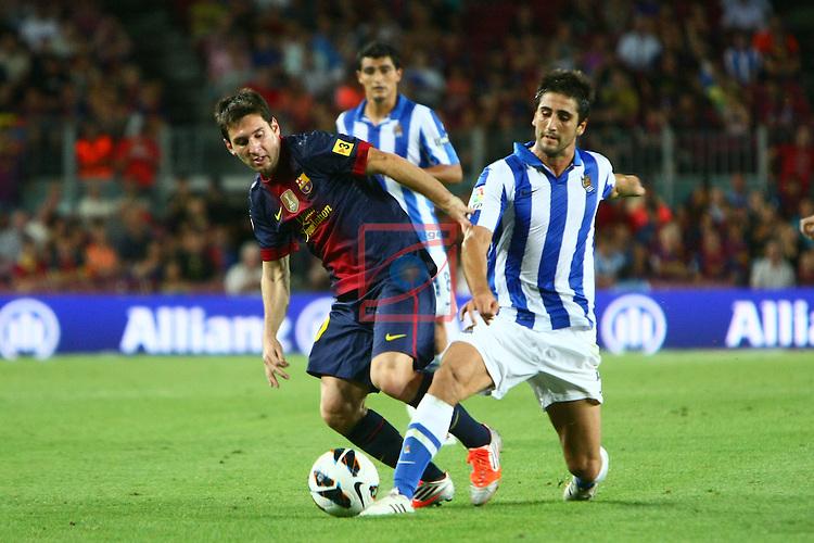 Messi vs Markel. FC Barcelona vs R. Sociedad: 5-1 - League LFP-BBVA 2012/13 - Game: 1.
