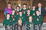 Scartaglen NS pupils who were confirmed by Bishop Bill Murphy in St Stephen and John's church on Tuesday front row l-r: Tamara Horan, Lorraine Hanrahan. Middle row: David O'Connor, Brendan Kelly, David Riordan, Luke Scollard. Back row: Shay Walsh, Ian O'Leary, Ella Kerin and Fr Michael Moynihan......