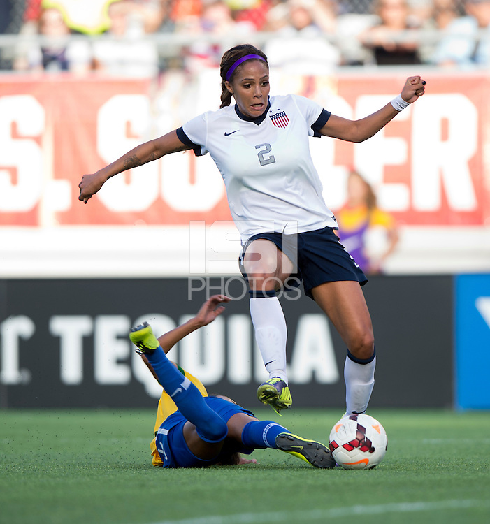 Sydney Leroux, Rilany.  The USWNT defeated Brazil, 4-1, at an international friendly at the Florida Citrus Bowl in Orlando, FL.