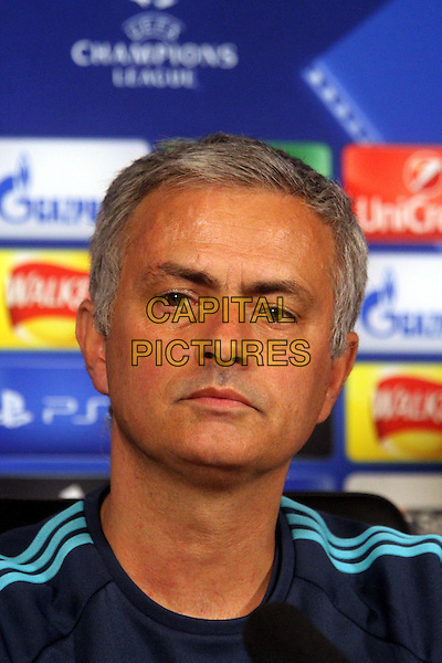 Jose Mourinho attends Chelsea's press conference at their Cobham training ground.<br /> CAP/DS<br /> &copy;DS/Capital Pictures