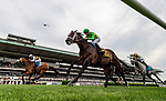 JUNE 06: Amade with Flavien Prat up overtakes Arklow and Florent Geroux to win The Belmont Gold Cup at Belmont Park in Elmont, New York on June 06, 2019. Evers/Eclipse Sportswire/CSM
