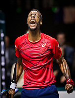 Rotterdam, The Netherlands, 15 Februari 2020, ABNAMRO World Tennis Tournament, Ahoy,<br /> Mens Single Final: Gaël Monfils (FRA) celebrates his win. <br /> Photo: www.tennisimages.com