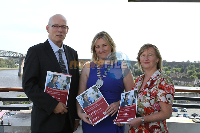 Ronan Dennedy, CEO of Louth County Enterprise Board, Louisa Maher, President of Network Ireland and Kathleen Dodd from Enterprise Ireland, Dundalk as Network Ireland Announces National Conference and Business Women of the Year Awards at the d Hotel....Photo NEWSFILE/Jenny Matthews.