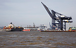 The Port of Felixstowe is Britain's busiest container port and one of the largest in Europe, Felixstowe, Suffolk, England