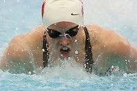 STANFORD, CA - JANUARY 22:  Stefanie Sutton of the Stanford Cardinal during Stanford's 173-125 win over Arizona on January 22, 2010 at the Avery Aquatic Center in Stanford, California.