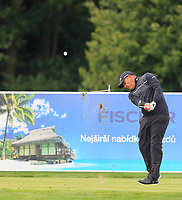 Ricardo Gonzalez (ARG) on the 3rd tee during Round 4 of the D+D Real Czech Masters at the Albatross Golf Resort, Prague, Czech Rep. 03/09/2017<br /> Picture: Golffile | Thos Caffrey<br /> <br /> <br /> All photo usage must carry mandatory copyright credit     (&copy; Golffile | Thos Caffrey)