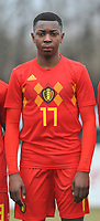 20180308 - TUBIZE , BELGIUM : Belgian Marco Kana pictured during a friendly game between the teams of the Belgian Red Devils Under 16 and Northern Ireland Under 16 at the Belgian Football Centre in Tubize , Thursday 8 th March 2018 ,  PHOTO Dirk Vuylsteke | Sportpix.Be