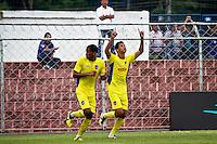 SÃO PAULO,SP,15 JANEIRO 2013 - COPA SÃO PAULO JUNIOR - PARANA x AUDAX  -Caio Dantas (d) comemora gol  jogador do Audax  durante partida Parana válido pela 2º fase da Copa são Paulo de Juniores no Estádio Comendador Souza na tarde desta terça feira (15).FOTO ALE VIANNA - BRAZIL PHOTO PRESS.