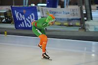 SCHAATSEN: DEVENTER: IJsbaan De Scheg, 27-10-12, IJsselcup, winnaar 5000m Bob de Jong, baanrecord 6.36, ©foto Martin de Jong