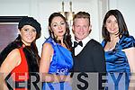 Olivia Buckley Listowel, Helen O'Sullivan-Sheehan, Cieran McCarthy Killarney and Carol Kennelly Tralee looking fabulous at the Christmas in Killarney fashion show in the Killarney Park Hotel on Thursday night..