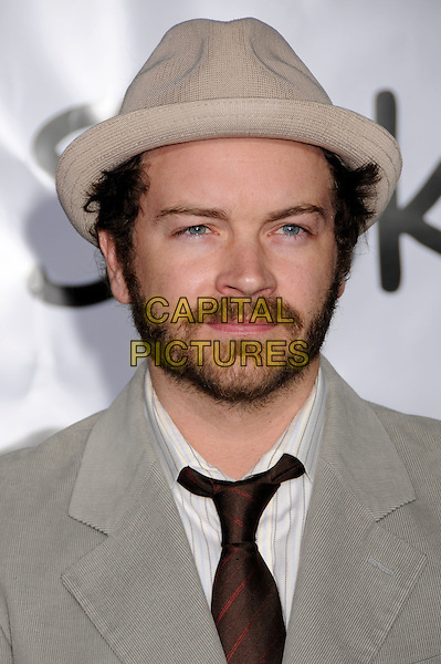 """DANNY MASTERSON.""""Forgetting Sarah Marshall"""" Los Angeles Premiere at Grauman's Chinese Theatre, Hollywood, California, USA..April 10th, 2008.portrait headshot cream beige grey gray hat beard facial hair .CAP/ADM/BP.©Byron Purvis/AdMedia/Capital Pictures."""