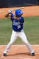 23 August 2007: Catcher #26 Jamel Boutagra at bat during the France 8-4 victory over Czech Republic in the Good Luck Beijing International baseball tournament (olympic test event) at the Wukesong Baseball Field in Beijing, China.
