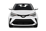 Car photography straight front view of a 2020 Toyota C-HR LE 5 Door SUV Front View