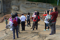 Asian Tourists at Polonnaruwa-Mediaeval Capital City, Sri Lanka