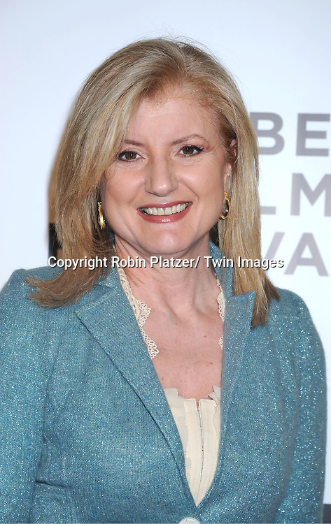 "Arianna Huffington attending The opening night of The Tribeca Film Festival .Screening of "" The Union"" on April 20, 2011 at The Winter Garden at the World Financial Plaza in New York City."