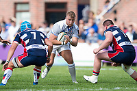 Jack Walker of Bath Rugby in possession. Pre-season friendly match, between Bristol Rugby and Bath Rugby on August 12, 2017 at the Cribbs Causeway Ground in Bristol, England. Photo by: Patrick Khachfe / Onside Images
