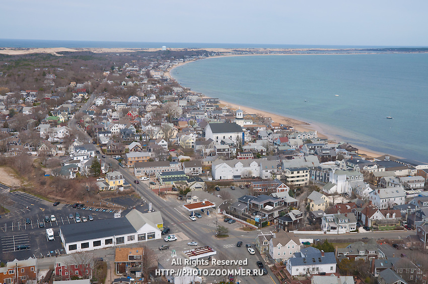 Provincetown view from the Pilgrim Monument, Cape Cod
