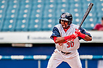 22 July 2018: Syracuse SkyChiefs outfielder Alejandro De Aza at bat against the Louisville Bats at NBT Bank Stadium in Syracuse, NY. The Bats defeated the Chiefs 3-1 in AAA International League play. Mandatory Credit: Ed Wolfstein Photo *** RAW (NEF) Image File Available ***