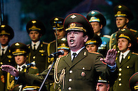A baritone soloist of the Russian Army Choir ?Alexandrov Ensemble? sings during a concert given in Loket, Czech Republic, 14 June 2009. Alexandrov Ensemble (established in 1928) is the official army choir of the Russian armed forces (Red Army). The ensemble consists of a male choir, a music orchestra and a dance ensemble. The music repertoire of Alexandrov Ensemble range from traditional Russian balalaika tunes to church hymns, Italian opera arias and pop music songs.