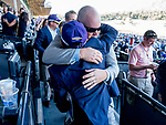 November 1, 2019: Connections for TVG Breeders' Cup Juvenile winner Storm The Court celebrate after the win at Santa Anita Park in Arcadia, California on November 1, 2019. Scott Serio/Eclipse Sportswire/Breeders' Cup/CSM