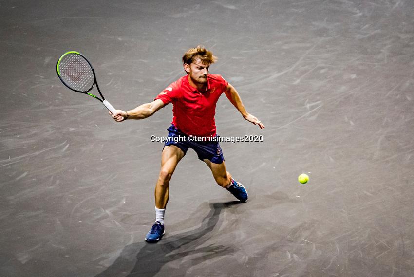 Rotterdam, The Netherlands, 9 Februari 2020, ABNAMRO World Tennis Tournament, Ahoy, David Goffin (BEL).<br /> Photo: www.tennisimages.com