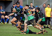 Action from the Wellington premier rugby league semifinal between Wainuiomata Lions and Victoria Hunters at Wises Park, Wainuiomata in Wellington, New Zealand on Sunday, 7 May 2017. Photo: Mike Moran / lintottphoto.co.nz