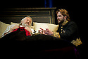 """Bath, Avon, UK. 25/07/2011. """"Henry IV, Part II"""", part of the Peter Hall season at Theatre Royal Bath. Tom Mison as Prince Hal and David Yelland as King Henry IV. Photo credit: Jane Hobson"""